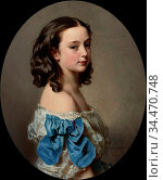 Winterhalter Hermann - Portrait of a Young Girl Said to Be Paula ... Редакционное фото, фотограф Artepics / age Fotostock / Фотобанк Лори