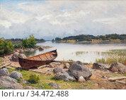 Munsterhjelm Hjalmar - Vene Rannalla 2 - Finnish School - 19th Century... Редакционное фото, фотограф Artepics / age Fotostock / Фотобанк Лори