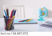Concept of preparation for school. Стоковое фото, фотограф Яков Филимонов / Фотобанк Лори
