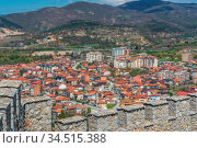 View of the Ohrid town as seen from the castle Samuil, Republic Of... Стоковое фото, фотограф Zoonar.com/Pawel Opaska / easy Fotostock / Фотобанк Лори