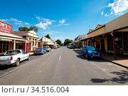 CHILTERN, AUSTRALIA - April 3 2017: The quaint gold mining town of... Стоковое фото, фотограф Zoonar.com/Chris Putnam / easy Fotostock / Фотобанк Лори