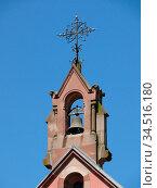 St. Leo-Kapelle, Eguisheim, kapelle, Elsaß, Egisheim, egsa, dorf,... Стоковое фото, фотограф Zoonar.com/Volker Rauch / easy Fotostock / Фотобанк Лори
