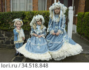 Purim Jewish celebrations in Stamford Hill, London, UK. Children ... (2017 год). Редакционное фото, фотограф Julio Etchart / age Fotostock / Фотобанк Лори