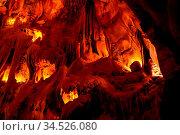 Interior view to Grutas Mira de Aire cave in Portugal. Стоковое фото, фотограф Zoonar.com/Sergey Mayorov / easy Fotostock / Фотобанк Лори