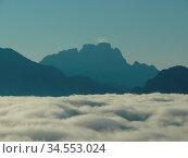 Civetta, dolomiten, berge, berge, gebirge, hochgebirge, nebel, wolke... Стоковое фото, фотограф Zoonar.com/Volker Rauch / easy Fotostock / Фотобанк Лори