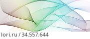 Farbige Linien in Wellenform auf weißem Hintergrund. Abstrakt, Bewegung... Стоковое фото, фотограф Zoonar.com/wolfgang rieger / easy Fotostock / Фотобанк Лори