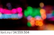 Bunte unscharfe Bokeh Lichter nachts auf dem Kirmes oder einem Jahrmarkt. Стоковое фото, фотограф Zoonar.com/Robert Kneschke / age Fotostock / Фотобанк Лори