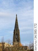 Turm der St. Lamberti Kirche, Muenster, Nordrhein-Westfalen, Deutschland... Стоковое фото, фотограф Zoonar.com/W. Wirth / age Fotostock / Фотобанк Лори