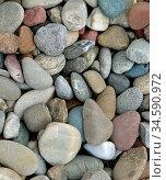 Kies, kiesel, stein, steine, material, bunt, farbe, bauen, baumaterial... Стоковое фото, фотограф Zoonar.com/Volker Rauch / easy Fotostock / Фотобанк Лори