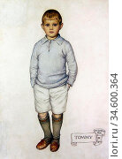 Atkinson Maud Tindal - Portrait of Tommy - British School - 19th ... Стоковое фото, фотограф Artepics / age Fotostock / Фотобанк Лори