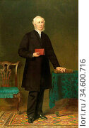 Barrett Jerry - Dr Lewis Edwards - British School - 19th Century. Стоковое фото, фотограф Artepics / age Fotostock / Фотобанк Лори
