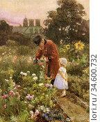 Barton Rose Maynard - Grandpa's Garden - British School - 19th Century... Стоковое фото, фотограф Artepics / age Fotostock / Фотобанк Лори