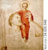 Batten John Dickson - Saint Christopher and the Christ Child - British... Стоковое фото, фотограф Artepics / age Fotostock / Фотобанк Лори