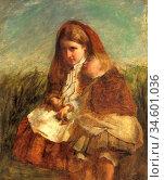 Baxter Charles - the Sisters 4 - British School - 19th Century. Стоковое фото, фотограф Artepics / age Fotostock / Фотобанк Лори