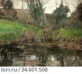 Birch Samuel John Lamorna - the Lonely Pool - British School - 19th... Стоковое фото, фотограф Artepics / age Fotostock / Фотобанк Лори