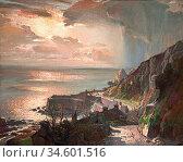 Birch Samuel John Lamorna - Morning at Lamorna Cove Cornwall - British... Стоковое фото, фотограф Artepics / age Fotostock / Фотобанк Лори