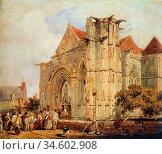 Bonington Richard Parkes - Procession Before the Notre-Dame Church... Стоковое фото, фотограф Artepics / age Fotostock / Фотобанк Лори