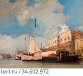 Bonington Richard Parkes - the Doge's Palace Venice - British School... Стоковое фото, фотограф Artepics / age Fotostock / Фотобанк Лори