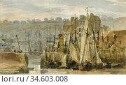 Bonington Richard Parkes - Porte De Peche Boulogne France - British... Стоковое фото, фотограф Artepics / age Fotostock / Фотобанк Лори