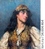 Breakspeare William Arthur - the Gypsy Girl 2 - British School - ... Стоковое фото, фотограф Artepics / age Fotostock / Фотобанк Лори