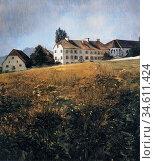 Trubner Wilhelm - Convent Meadow at Chiemsee - German School - 19th... Редакционное фото, фотограф Artepics / age Fotostock / Фотобанк Лори