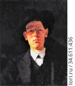 Trubner Wilhelm - Portrait of Gustav Mohr - German School - 19th ... Редакционное фото, фотограф Artepics / age Fotostock / Фотобанк Лори