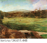 Trubner Wilhelm - View of Kronberg in the Taunus Mountains - German... Редакционное фото, фотограф Artepics / age Fotostock / Фотобанк Лори