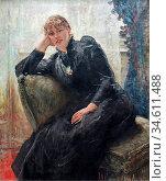 Uhde Fritz Von - Portrait of Therese Karl - German School - 19th ... Редакционное фото, фотограф Artepics / age Fotostock / Фотобанк Лори