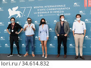 Quentin Dupieux, Elvis Romeo, Adele Exarchopoulos, David Marsais, ... Редакционное фото, фотограф AGF/Maria Laura Antonelli / age Fotostock / Фотобанк Лори