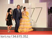 Oliver Stone, Sun-jung Jung attends the red carpet of the Kineo Prize... Редакционное фото, фотограф AGF/Maria Laura Antonelli / age Fotostock / Фотобанк Лори