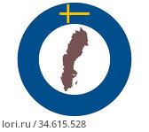 Landkarte von Schweden auf Hintergrund mit Fahne - Map of Sweden on... Стоковое фото, фотограф Zoonar.com/lantapix / easy Fotostock / Фотобанк Лори