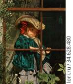 Anderson Sophie - No Walk Today - British School - 19th Century. Стоковое фото, фотограф Artepics / age Fotostock / Фотобанк Лори