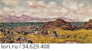 Brett John - Farland Rocks - British School - 19th Century. Стоковое фото, фотограф Artepics / age Fotostock / Фотобанк Лори