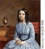 Brett John - Matilda Berry - British School - 19th Century. Стоковое фото, фотограф Artepics / age Fotostock / Фотобанк Лори