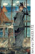 Burns Robert - Waiting for the Ferry - British School - 19th Century. Стоковое фото, фотограф Artepics / age Fotostock / Фотобанк Лори