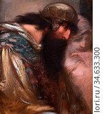 Burns Robert - King and Ethereal Maiden - British School - 19th Century... Стоковое фото, фотограф Artepics / age Fotostock / Фотобанк Лори