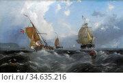 Carmichael John Wilson - Dutch Trader Running down the North East... Стоковое фото, фотограф Artepics / age Fotostock / Фотобанк Лори