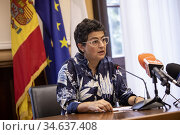 Spanish Minister of Foreign Affairs Arancha Gonzalez Laya in the ... Редакционное фото, фотограф Claudia Greco / AGF/Claudia Greco / AGF / age Fotostock / Фотобанк Лори