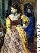 Ellis Tristram James - a Venetian Lady at Her Toilet - British School... Стоковое фото, фотограф Artepics / age Fotostock / Фотобанк Лори