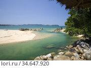 River view and beach near Poseidon Bungalows Khao Lak Thailand. Стоковое фото, фотограф Andrew Woodley / age Fotostock / Фотобанк Лори