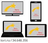 Digitale Medien und Weihnachten - Christmas on digital media. Стоковое фото, фотограф Zoonar.com/lantapix / easy Fotostock / Фотобанк Лори