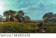 Gallon Robert - English Landscape - British School - 19th Century. Стоковое фото, фотограф Artepics / age Fotostock / Фотобанк Лори