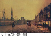 Moynan Richard Thomas - Gourock Glasgow - British School - 19th Century... Редакционное фото, фотограф Artepics / age Fotostock / Фотобанк Лори