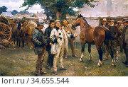 Munnings Alfred James - the Horse Fair 2 (a Suffolk Fair) - British... Редакционное фото, фотограф Artepics / age Fotostock / Фотобанк Лори