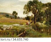 Murray David - the Stream - British School - 19th Century. Редакционное фото, фотограф Artepics / age Fotostock / Фотобанк Лори