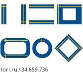 Fahnen von Schweden mit Textfreiraum - Flags of Sweden with copy space. Стоковое фото, фотограф Zoonar.com/lantapix / easy Fotostock / Фотобанк Лори