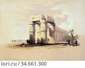 Roberts David - at Luxor Thebes Upper Egypt - British School - 19th... Редакционное фото, фотограф Artepics / age Fotostock / Фотобанк Лори