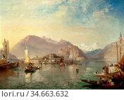 Pyne James Baker - Isola Bella Lake Maggiore Italy - British School... Редакционное фото, фотограф Artepics / age Fotostock / Фотобанк Лори