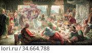 Rooke Thomas Matthews - Herod's Feast - British School - 19th Century. Редакционное фото, фотограф Artepics / age Fotostock / Фотобанк Лори