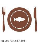 Fisch und Besteck - Fish and cutlery. Стоковое фото, фотограф Zoonar.com/Robert Biedermann / easy Fotostock / Фотобанк Лори